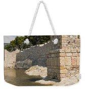 Stone Wall In Foca Weekender Tote Bag