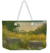Stone Wall On The Hudson Weekender Tote Bag