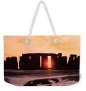 Stonehenge Winter Solstice Weekender Tote Bag