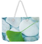 Stones And A Gingko Leaf Weekender Tote Bag