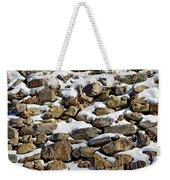 Stones And Snow Weekender Tote Bag
