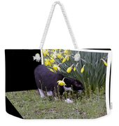 Stop And Feel The Flowers Weekender Tote Bag