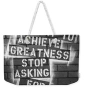 Stop Asking For Permission Bw Weekender Tote Bag