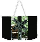 Stop, Look, Listen Weekender Tote Bag