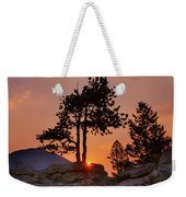 Stop Right Here - Rocky Mountain Np - Sunrise Weekender Tote Bag
