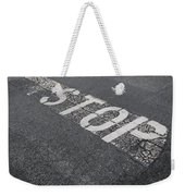 Stop Sign Weekender Tote Bag
