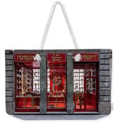 Store Front In Red Weekender Tote Bag