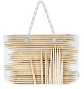 Stored Wooden Toothpicks Weekender Tote Bag