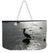 Stork At Evening Weekender Tote Bag