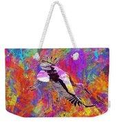 Stork Fly Elegant Feather Bird  Weekender Tote Bag