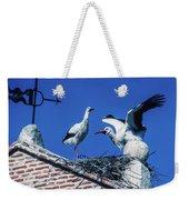 Storks Of Segovia Weekender Tote Bag