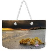 Storm And Sea Shell On Sanibel Weekender Tote Bag