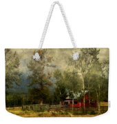 Storm Approaching White Birch Cottage Weekender Tote Bag