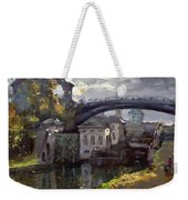 Storm Aproach At Lockport Locks Weekender Tote Bag