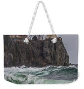 Storm At Split Rock Lighthouse Weekender Tote Bag