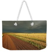 Storm Clouds Along A Saskatchewan Country Road Weekender Tote Bag