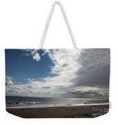 Storm Clouds Clearing The Beach With Wind Farm In The Background Skegness Lincolnshire England Weekender Tote Bag