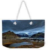 Storm Clouds Over A Glacier - Iceland Weekender Tote Bag