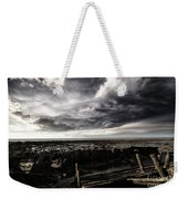 Storm Clouds Over Beached Shipwreck Weekender Tote Bag