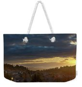 Storm Clouds Over Happy Valley During Sunset Weekender Tote Bag