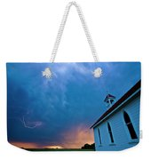 Storm Clouds Over Saskatchewan Country Church Weekender Tote Bag