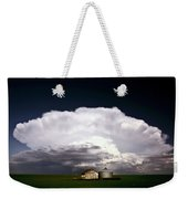 Storm Clouds Over Saskatchewan Granaries Weekender Tote Bag