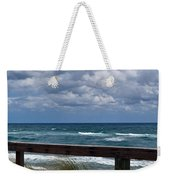 Storm Clouds Over The Beach Weekender Tote Bag