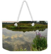 Storm Clouds Reflect In The Nippersink Weekender Tote Bag