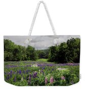 Storm In The Lupine Weekender Tote Bag