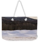 Storm King Wavefield In Snowy Dress Weekender Tote Bag