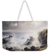 Storm Off The Coast Of Belle Ile Weekender Tote Bag