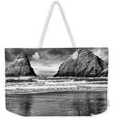Storm On The Rocks Weekender Tote Bag