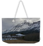 Storm On The Rocky Mountain Front Weekender Tote Bag