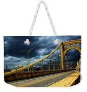 Storm Over Bridge Weekender Tote Bag