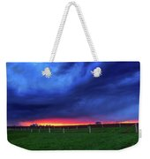 Storm Over Farm Country Weekender Tote Bag