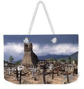 Storm Over Taos Graveyard Weekender Tote Bag