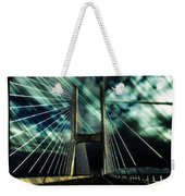 Storm Over The Bridge  Weekender Tote Bag