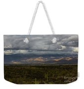 Storm Over The Mountains Of Arizona Weekender Tote Bag