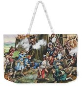 Storming Of The Fortress Of Neoheroka Weekender Tote Bag