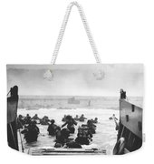 Storming The Beach On D-day  Weekender Tote Bag by War Is Hell Store