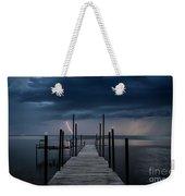 Storms On The Dock Weekender Tote Bag