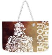 Stormtrooper - Star Wars Art - Brown Weekender Tote Bag