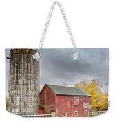 Stormy Autumn Skies Square Weekender Tote Bag