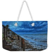Stormy Backyard  Weekender Tote Bag