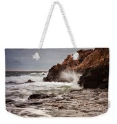 Stormy Beach Waves Weekender Tote Bag