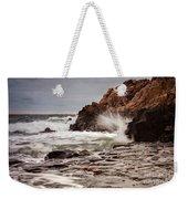 Stormy Beach Waves Weekender Tote Bag
