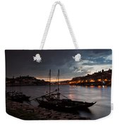 Stormy Evening Sky Above Porto And Gaia Weekender Tote Bag