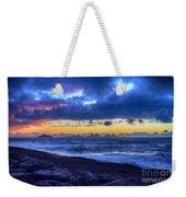 Stormy Icelandic Sunset Weekender Tote Bag