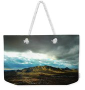Stormy Mountains In Sunlight Weekender Tote Bag