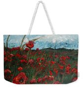Stormy Poppies Weekender Tote Bag